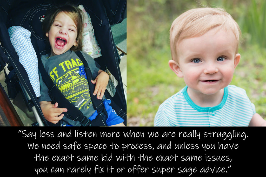 Learn from moms of children with special needs how to encourage these amazing families and what words and actions can be hurtful.