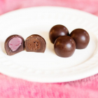 Dairy Free Truffles-Strawberry and Chocolate Cream