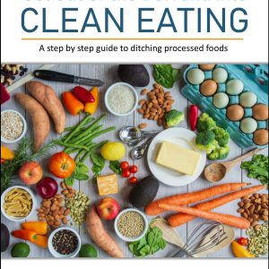 This e-book is designed to help you transition from eating processed foods to whole foods. The four-week program does not take into account specific food allergies, and it does not eliminate any food groups.