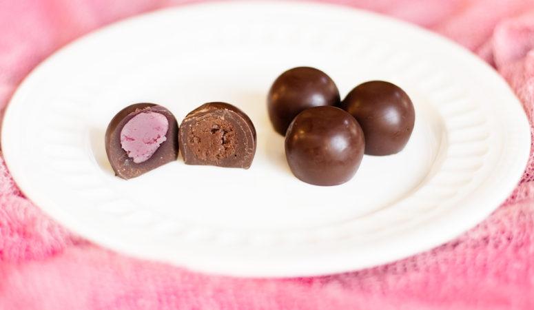 Dairy Free Truffles-Strawberry and Chocolate Cream